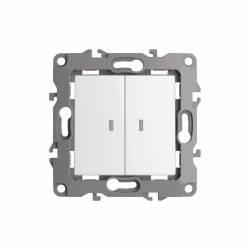 Interuptor Doble Piloto LED (10A-250V)