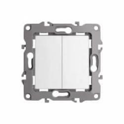 Conmutador doble con teclas aluminio