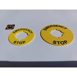 Etiqueta paro emergencia Ø45